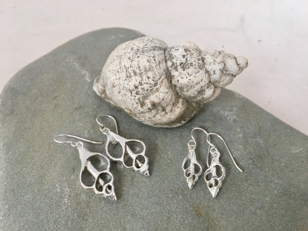 Tiny Whelk Dangle Earrings