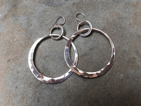 Large Double Crescent Earrings