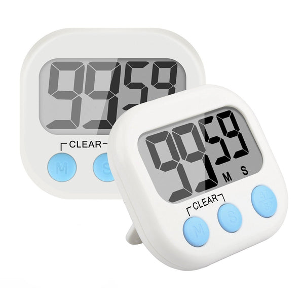 Big Digits Magnetic Kitchen Timer with Loud Alarm