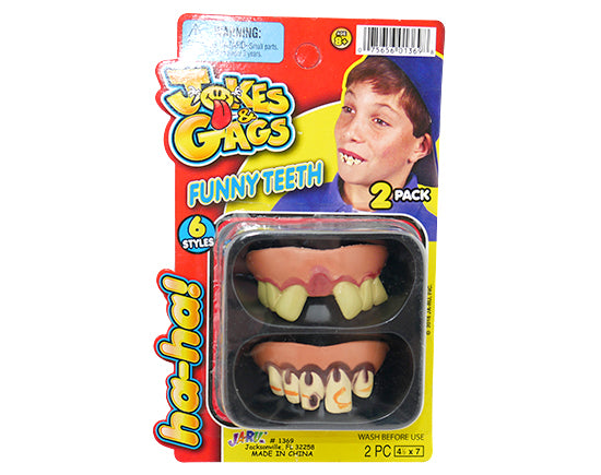Funny Goofy Teeth  2 pack