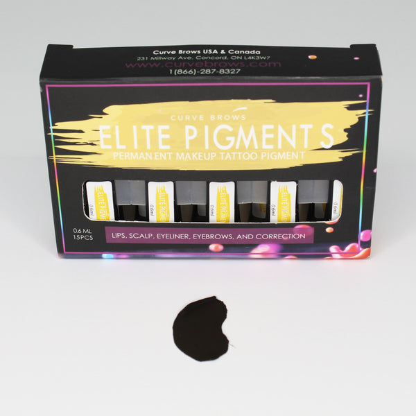 ELITE PMU MACHINE PIGMENT SCALP BLACK 0.6ML (15 PIECES)