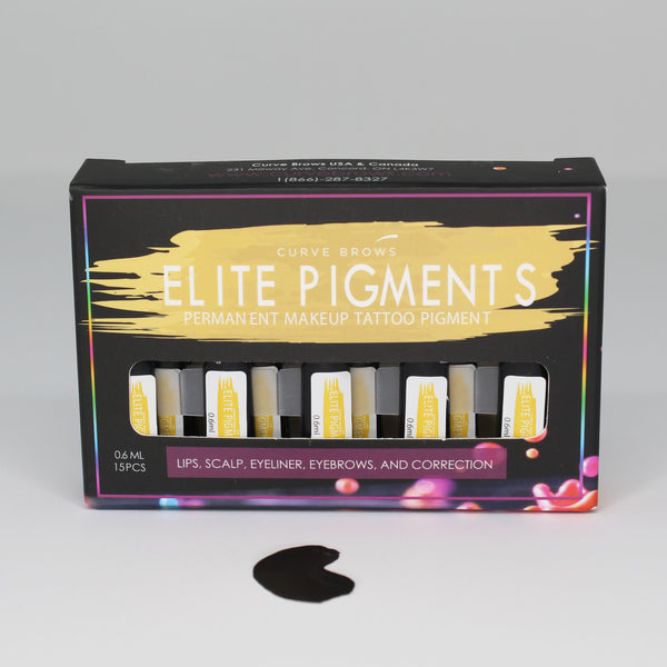 ELITE PMU MACHINE PIGMENT ONYX BLACK 0.6ML (15 PIECES)