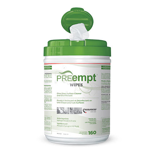 PREEMPT RTU - SURFACE CLEANER  AND DISINFECTANT WIPES (160 SHEETS)