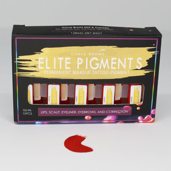 ELITE PMU MACHINE PIGMENT RED 0.6ML (15 PIECES)