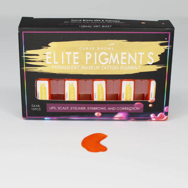 ELITE PMU MACHINE PIGMENT STRAWBERRY ORANGE 0.6ML (15 PIECES)