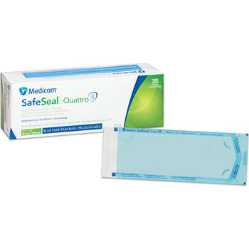 SELF-SEALING STERILIZATION POUCHES (200 PIECES) - 3 1/2 x 9 INCHES