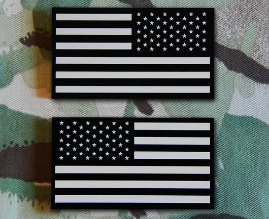 IR US Flag Tan & Black Patch Set