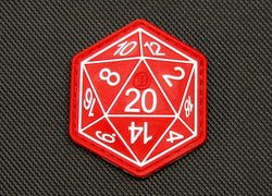 3D PVC Dungeons And Dragons Die D20 Patch