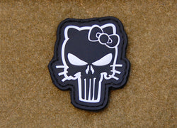 3D PVC Hello Kitty Punisher patch