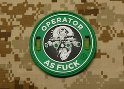 3D PVC Operator As Fuck Patch - Starbucks Version