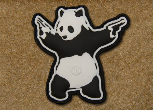 3D PVC Panda With Guns Patch
