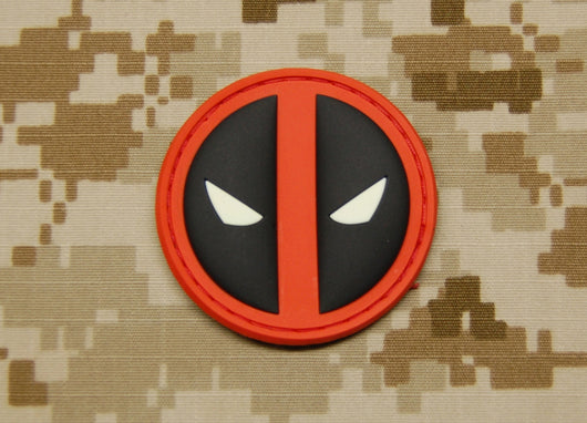3D PVC Deadpool GITD Patch