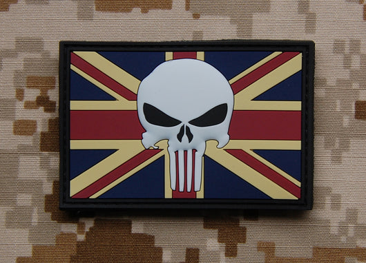 3D PVC UK Punisher Flag Patch
