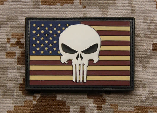 3D PVC US Punisher Flag patch