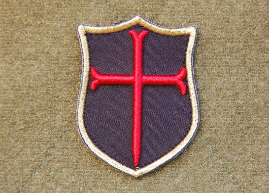 Mini 3D Crusader Shield Patch