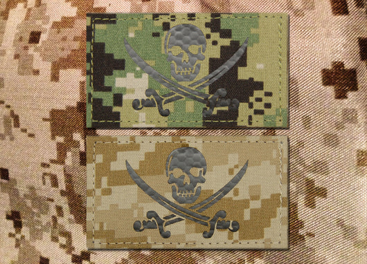 IR NWU Type II and Type III Calico Jack Call Sign Patch