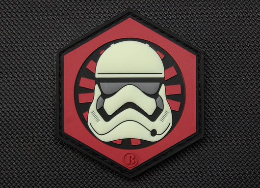 3D PVC First Order GITD Stormtrooper Helmet Patch