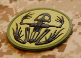 3D PVC Frog Skeleton Patch - AOR1, AOR2, B&W