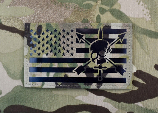 Large Infrared Multicam IR US Flag Patch 5