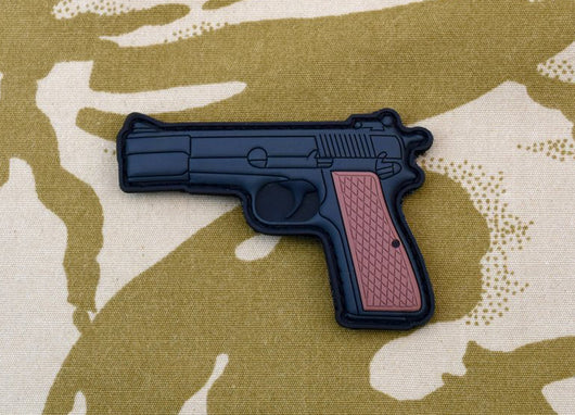 UKSF Browning Hi-Power Pistol 3D PVC Morale Patch