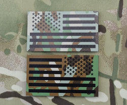 Infrared Printed Multicam IR US Flag Patch Set