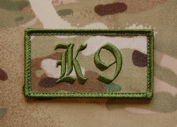 Dog Handler K9 Patch Multicam & GREEN or BLK