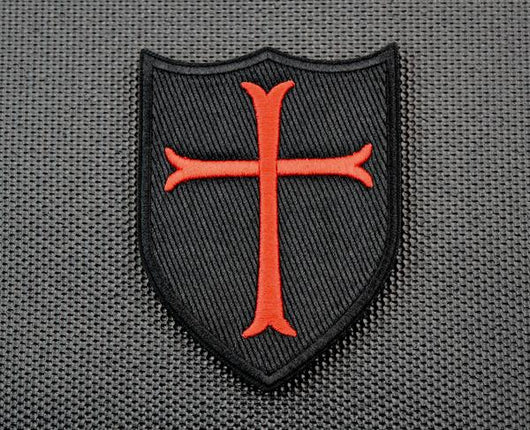 Premium Embroidered Crusader Shield Morale Patch