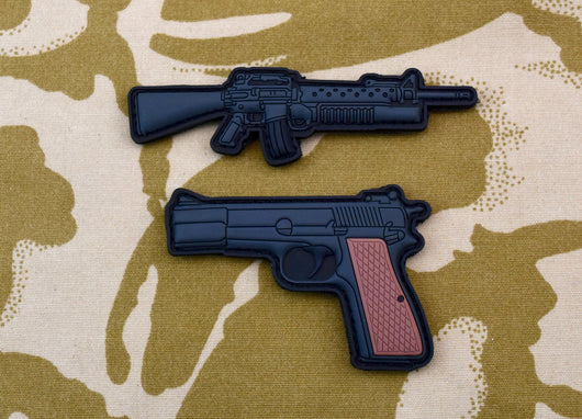 UKSF Gulf War Weapons 3D PVC Morale Patch Set