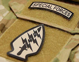 Infrared US Army Special Forces Arrowhead & Tab Set