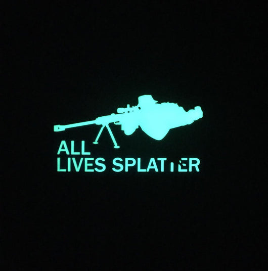 ALL LIVES SPLATTER 3D PVC Glow In The Dark
