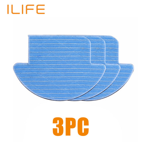3pcs Mop Cloth High Quality for ILIFE V7s Pro, Robot Vacuum Cleaner Accessories Part- www.jhodaj.com