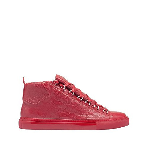 High quality balenciaga women sneakers red leather high top- www.jhodaj.com