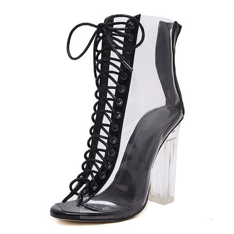 New Sexy PVC Transparent Gladiator Sandals- www.jhodaj.com
