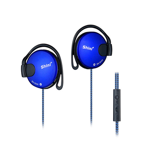 Ear Hook Headphone Headset with Microphone for iPhone Samsung Mobile Phone- www.jhodaj.com