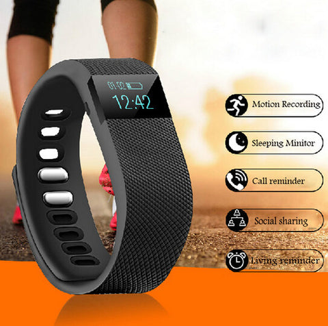 Smart Wristband Activity Tracker Bluetooth 4.0 Smart Sports Bracelet Pedometer For IOS & Android- www.jhodaj.com