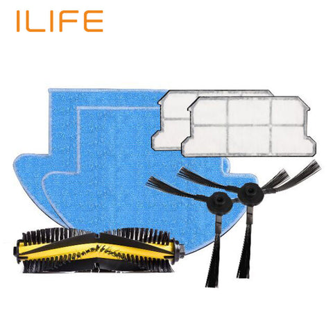 ILIFE V7s and V7s Pro Spare Replacement Kits with HEAP Filter MOP Cloth Slide Brush- www.jhodaj.com
