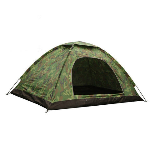 Portable Single Layer Camping Tent Camouflage 3-4 Person- www.jhodaj.com