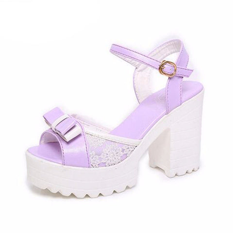 Women Summer Sandals Open Toe Thick High Heels- www.jhodaj.com