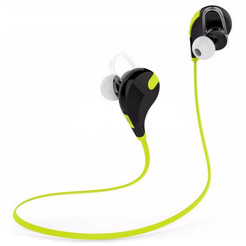 Bluetooth 4.0 Wireless Headset Sport Headphone for iPhone 4 5 6 Plus Colour: Green- www.jhodaj.com