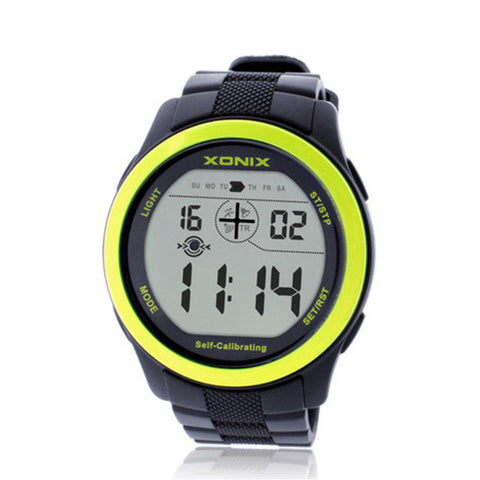 Xonix Self Calibrating Sport Watches , 100M Waterproof Self Calibrating Digital Watch- www.jhodaj.com