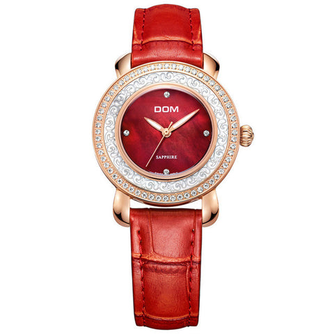 DOM luxury women watch waterproof sapphire crystal- www.jhodaj.com