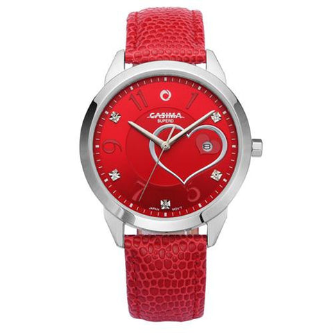 High quality CASIMA luxury women watch crystal table quartz wrist watch leather band waterproof- www.jhodaj.com