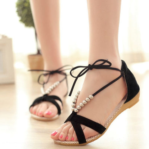 Women flat gladiator sandals summer style- www.jhodaj.com