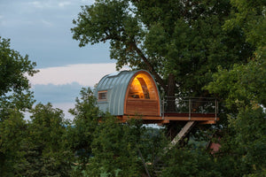 A Modern 36-ft-high Treehouse Designed by German Firm baumraum