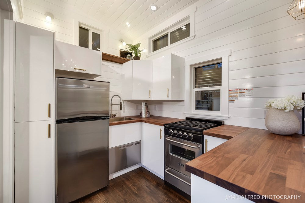The 34' Custom Loft Edition Tiny House on Wheels by Mint Tiny Homes