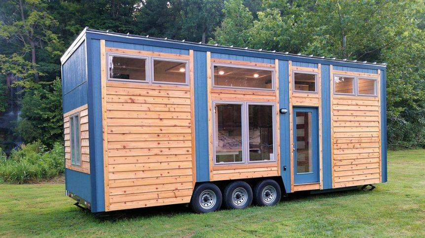 "280-sqft ""Blue Heron"" Tiny House on Wheels by Blue Sky Tiny Homes"
