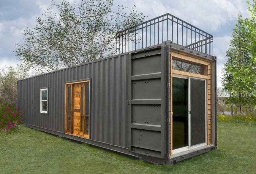 "40' ""Freedom"" Shipping Container Home by Michigan-based Minimalist Homes"