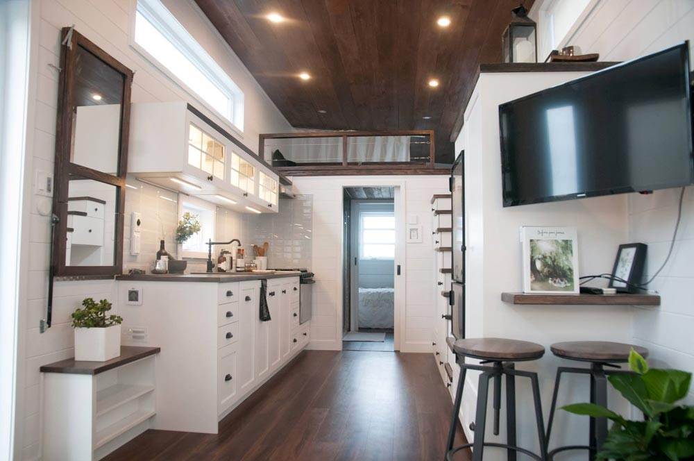 "Wide 10' x 32' ""Laurier"" Tiny Home on Wheels by Minimaliste Tiny Houses"