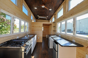 "28' ""Hillside"" Tiny Home on Wheels by Tiny House Building Company"