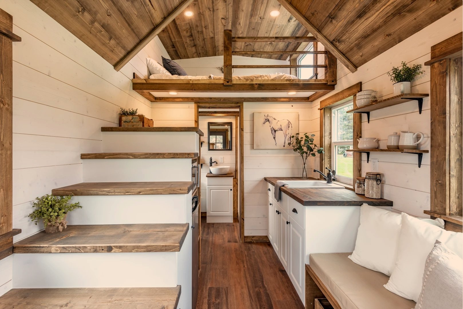 "16' ""Thistle"" Tiny House on Wheels by Summit Tiny Homes"